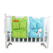 Load image into Gallery viewer, Multilayers Baby Cotton Crib Organizer Toy Diaper Pocket 45*35cm Bed Hanging Storage Bag