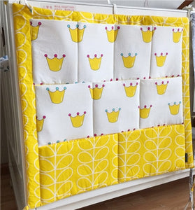 Brand New Baby Cot Bed Hanging Toy Diaper Pocket Organizer 60*50cm Storage Bag