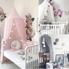Load image into Gallery viewer, Baby Chiffon Mosquito Net Dome Bed Curtain For Baby Cot / Home Decoration Cute Princess Room Netting Canopy