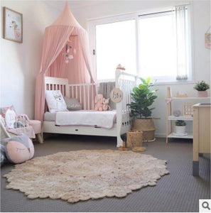 Baby Chiffon Mosquito Net Dome Bed Curtain For Baby Cot / Home Decoration Cute Princess Room Netting Canopy