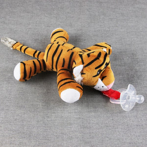 Large Doll Baby Chain Clip Plush Animal Toys Soother Pacifier Holder (Not Include Pacifier)