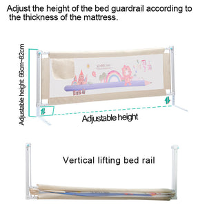 Baby / Kids Safety Vertical Lifting Bed Rail Fencing Gate