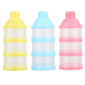 3 Layer Baby Food Container Storage Feeding Box / Portable Milk Powder Formula Dispenser