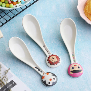 Bamboo Fiber Environmental Protection Creative Cute Design Baby Spoon