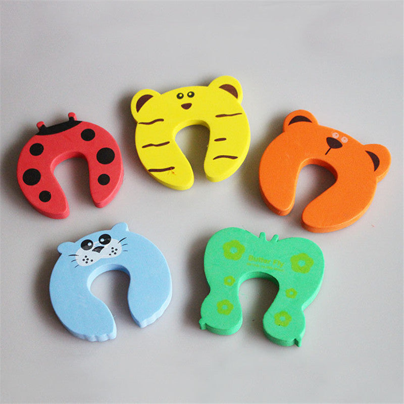 Baby Care Safety Cute Animal Protection Door Stop and Hooks