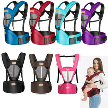 Load image into Gallery viewer, Baby Toddle Carrier Solid Breathable Ergonomic Adjustable Wrap Sling Chest Kangaroo Backpack