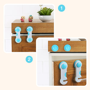 5pcs/set Multi-function Baby Safety Locks For Cupboard Cabinet Door Drawer Security Protector