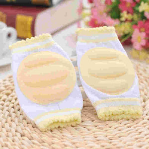 1 Pair - Baby Cozy Breathable Cotton Sponge Comfortable Protection Knee Pads