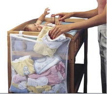 Load image into Gallery viewer, 50*60cm Practical Large Solid Hanging Fix On baby Crib Organizer Storage Bag