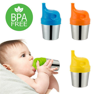 Silicone Sippy Lids Spill-proof & Leak-proof Cartoon Baby Training Drinking Cup Cover