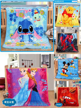 Load image into Gallery viewer, New Baby Cartoon Soft Coral Fleece Thin Lightweight Cotton Towel Blanket Size 100*70cm
