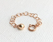 Load image into Gallery viewer, Interchangeable Jewelry Extender in 14k Rose Gold Fill. Clasp, Chain and Charm
