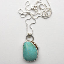 Load image into Gallery viewer, Kingman Turquoise and Sterling Silver Necklace