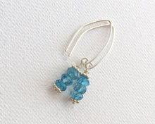Load image into Gallery viewer, London Blue Topaz Earrings with Sterling Silver