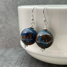Load image into Gallery viewer, Shattuckite and Sterling Silver Earrings