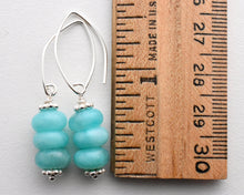 Load image into Gallery viewer, Peruvian Amazonite and Solid 925 Sterling Silver Earrings