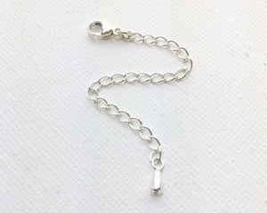 Sterling Silver Jewelry Extender with Silver Drop Charm
