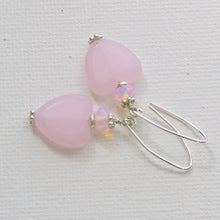 Load image into Gallery viewer, Pale Pink Heart and Sterling Silver Earrings