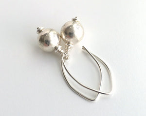 Sterling Silver Earrings. Everyday all Silver Earrings