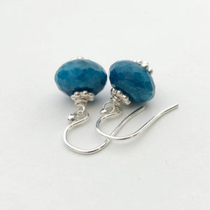 Apatite Earrings with Solid 925 Sterling Silver