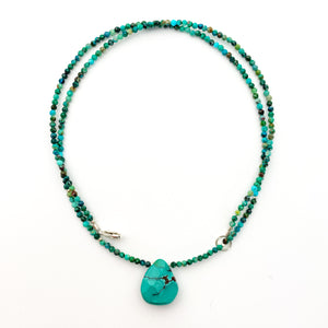 Dainty Faceted Blue and Green Turquoise