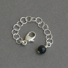 Load image into Gallery viewer, Sterling Silver and Black Onyx Necklace / Bracelet Extender