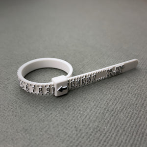 Re-Usable Ring Sizer. Whole and Half Sizes 1-17