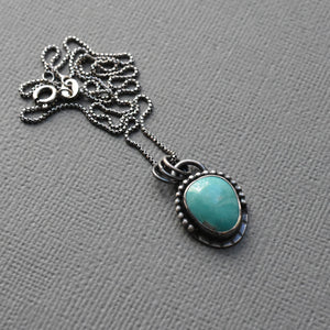 La Elisa Turquoise and Sterling Silver Necklace