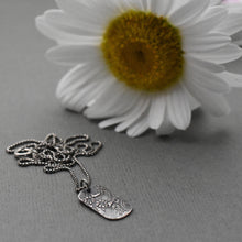 Load image into Gallery viewer, Silver Pendant Necklace with Floral Paisley Design