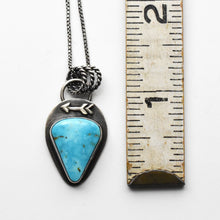 Load image into Gallery viewer, Turquoise Mountain Protective Arrow Pendant Necklace