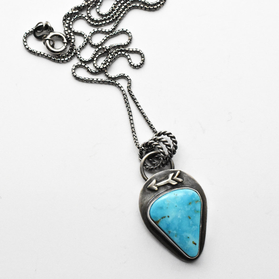 Turquoise Mountain Protective Arrow Pendant Necklace
