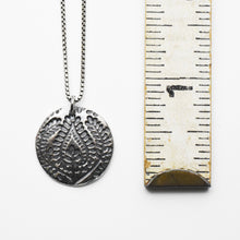 Load image into Gallery viewer, Paisley Charm Necklace. Solid 925 Sterling Silver Necklace