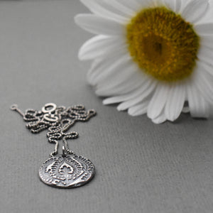 Paisley Charm Necklace. Solid 925 Sterling Silver Necklace