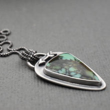 Load image into Gallery viewer, Variquoise Pendant Necklace with Sterling Silver Setting. Arrow and Hidden Heart Pendant