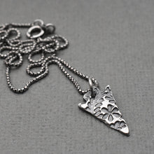 Load image into Gallery viewer, Solid 925 Sterling Silver Stamped Arrowhead Layering Necklace