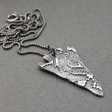 Load image into Gallery viewer, Large Silver Arrowhead Necklace with Paisley Design