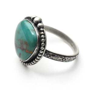 Royston Turquoise and Sterling Silver Ring. Size 8.25 US