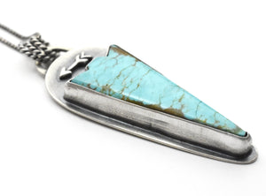 Number 8 Turquoise Arrowhead Pendant Necklace