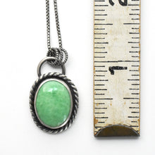 Load image into Gallery viewer, Utah Lucin Variscite Double-Sided Pendant with a Prickly Pear Cactus Stamp on Back.