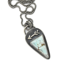 Load image into Gallery viewer, Beautiful Pale Blue Sand Hill Turquoise Protective Arrow Necklace