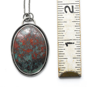 Sonora Sunrise Pendant NecklaceDouble Sided With Mountain