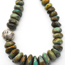Load image into Gallery viewer, Bold Turquoise and Solid 925 Sterling Silver Necklace