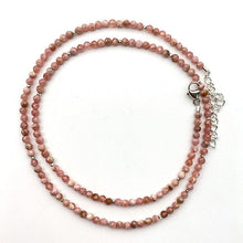 Load image into Gallery viewer, Faceted Pink Rhodochrosite and Sterling Silver Necklace