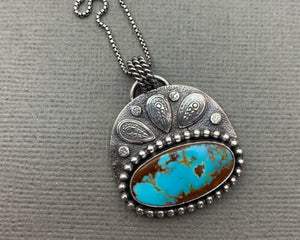 Royston Turquoise and Sterling Silver Pendant