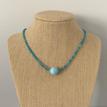 Load image into Gallery viewer, Larimar, Apatite and Sterling Silver Necklace. Adjustable