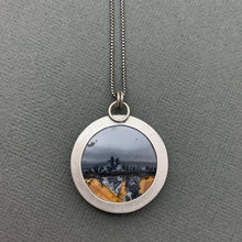 Load image into Gallery viewer, Maligano  Jasper Landscape Pendant. Sterling Silver Necklace