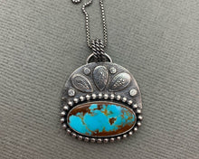 Load image into Gallery viewer, Royston Turquoise and Sterling Silver Pendant