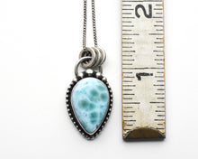 Load image into Gallery viewer, Larimar and Solid 925 Sterling Silver Silver Necklace