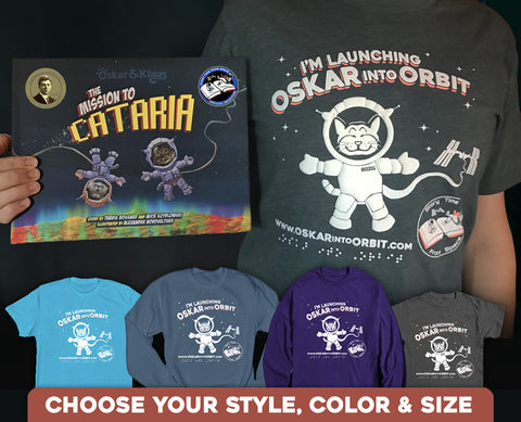 Image of Oskar Into Orbit T-shirt and style and color options.