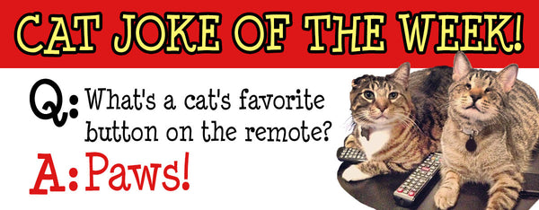 Question: What's a cat's favorite button on the remote? Answer: Paws!